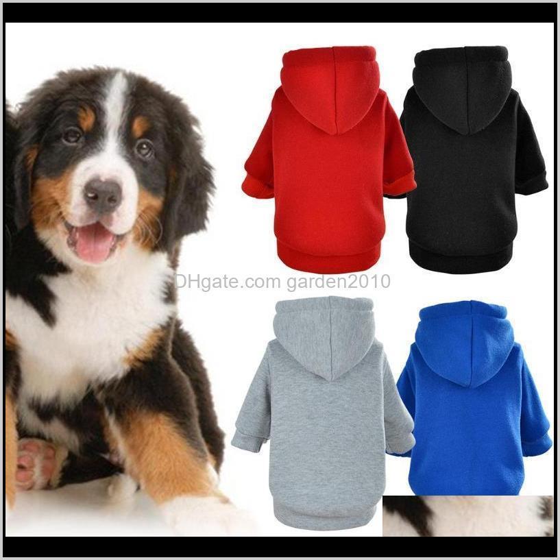 Ropa Moda Suministros para mascotas Disfraz Abrigos Dog Hoodie Otoño Cuerpo con capucha Chaqueta Cat Chaqueta Puppy Ropa sólida Sudadera general Invierno J014 YRL46