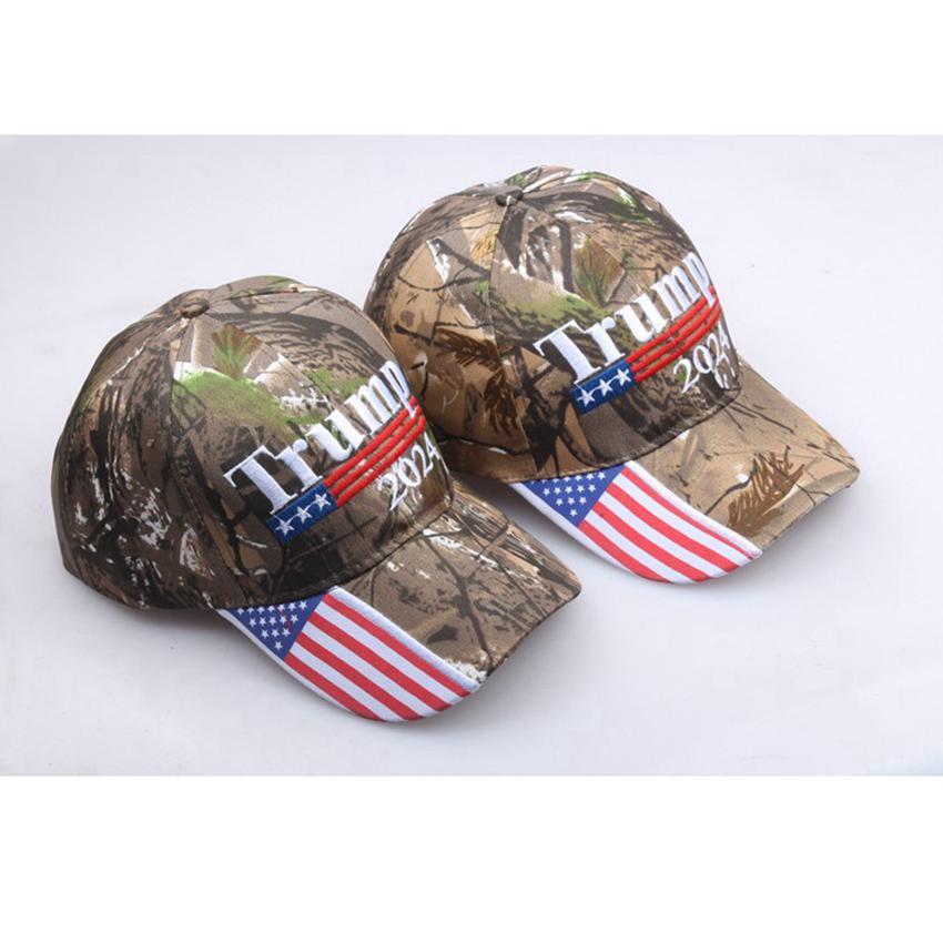 Donald Trump 2024 Berretti da baseball Camouflage US Presidential Election Cappelli regolabili Sport all'aperto Camo Trump Hat Cyz3151