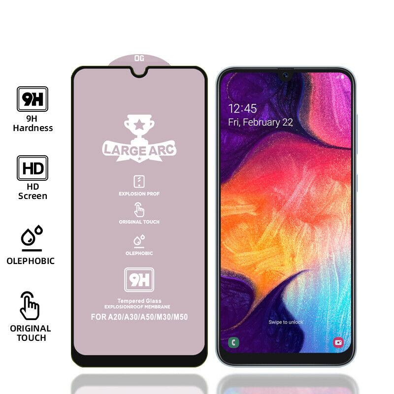 Full Tempered Glass Screen Protectors For Samsung Galaxy A51 A71 A70 A50 A10S A20