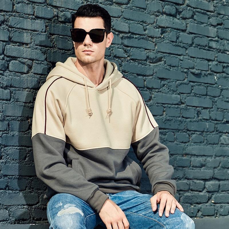 Sweats à capuche pour hommes Sweatshirts à manches longues 2021 Automne Hiver Simple Sports Sweats à capuche Trend Casual Veste en vrac