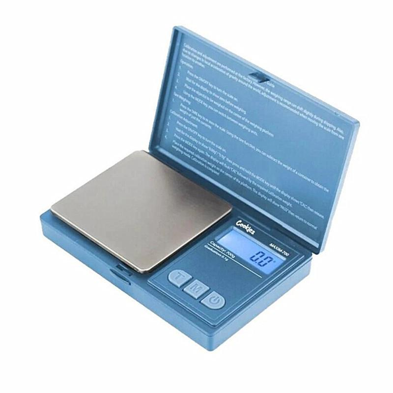 Backwoods Cookies Poecket Digital Scale 700g x 0.1g Electric Balance Electronic Weigher with Batteries Included for Herb Jewelry Dry Stash Flip Scales