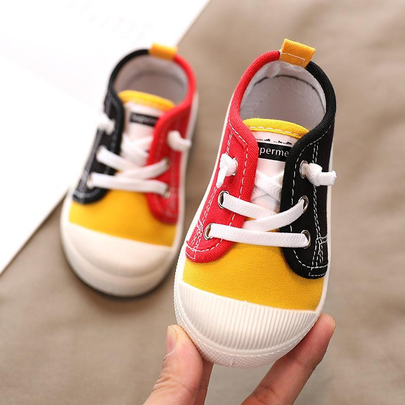 First Walkers Baby Shoes 2021 Spring Summer Toddler Girl Boy Canvas Outdoor Anti-slip Rubber Sole Sports Infant