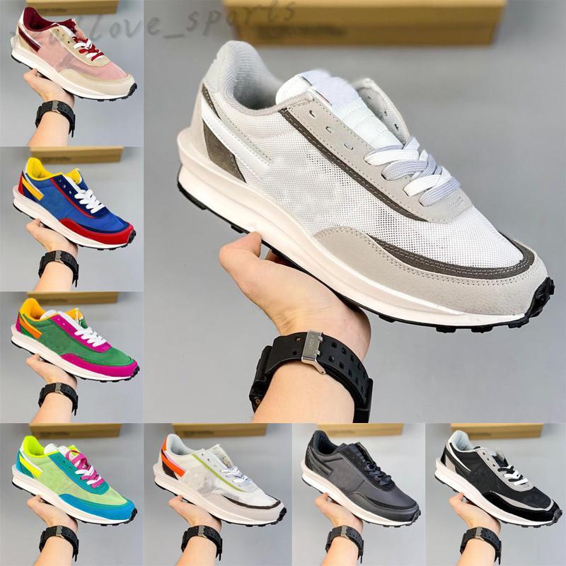 2022 LD Waffle Runnin Shoes Hombres Mujeres Moda Zapatillas de deporte Sail Game Royal Thong Villano Nylon Red Nylon Gran valor Entrenador al aire libre Regalo TA01