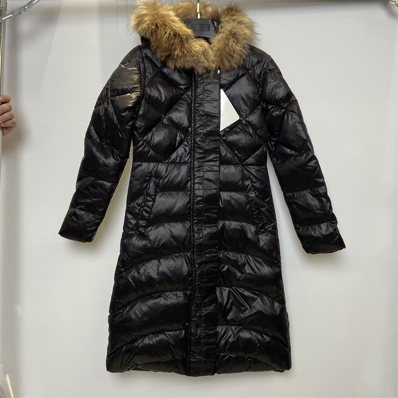 Womans inverno para baixo jaquetas moda ao ar livre qualidade superior grande pele grande casaco de quatro casaco quente e windproof xs - 3xl