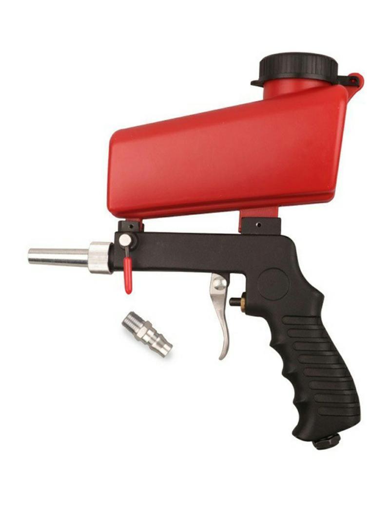 Professionelle Spritzpistolen 90psi Verstellbare Sandstrahlpistole Sand Blaster Strahlmaschine Schwerkraft Kleines Handheld Pneumatisches Set
