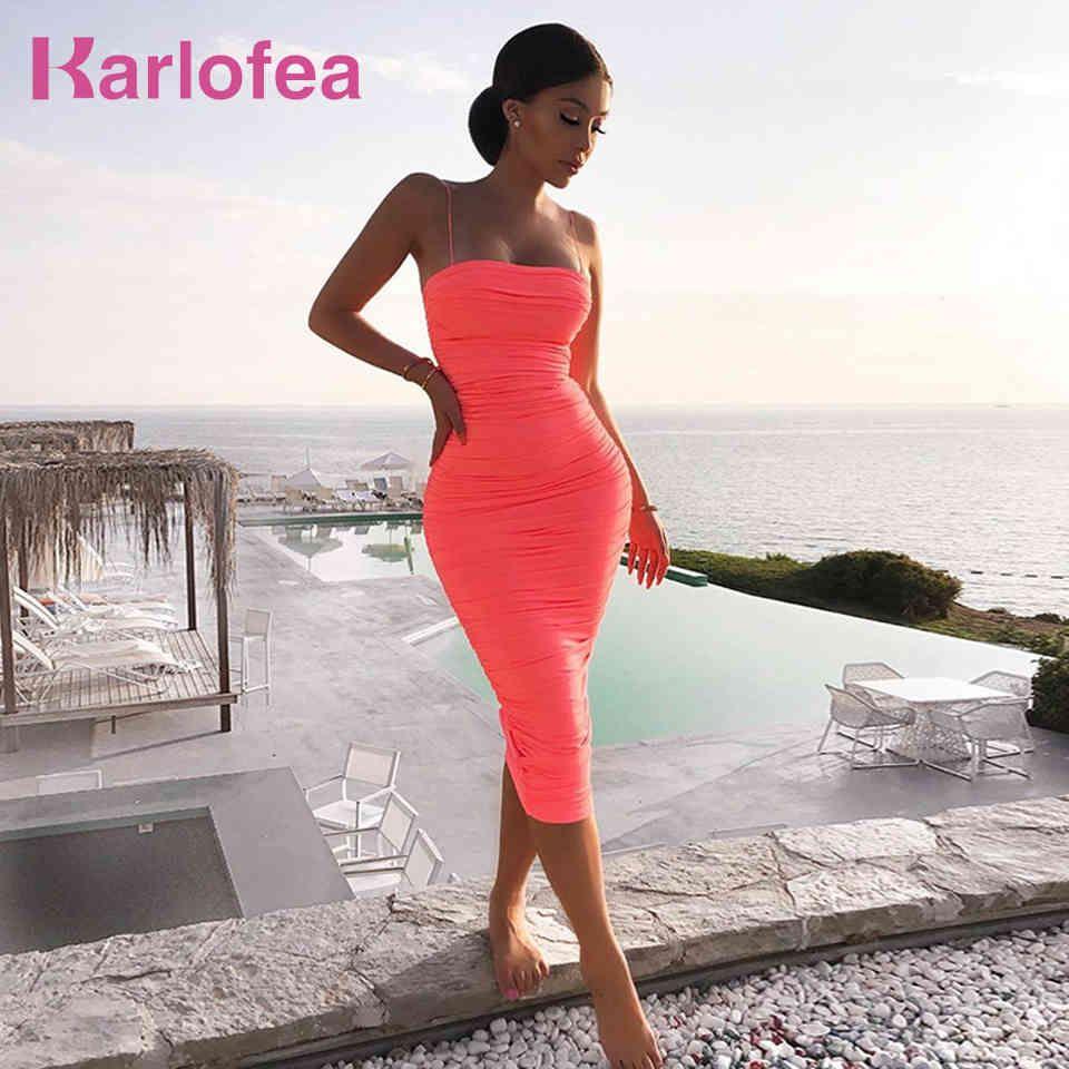 2 Lagen Casual Summer Dress Frauen Spaghetti-Riemen Elegant Ruvelching Club Party Lange Vestidos Sexy Urlaub ES 210512