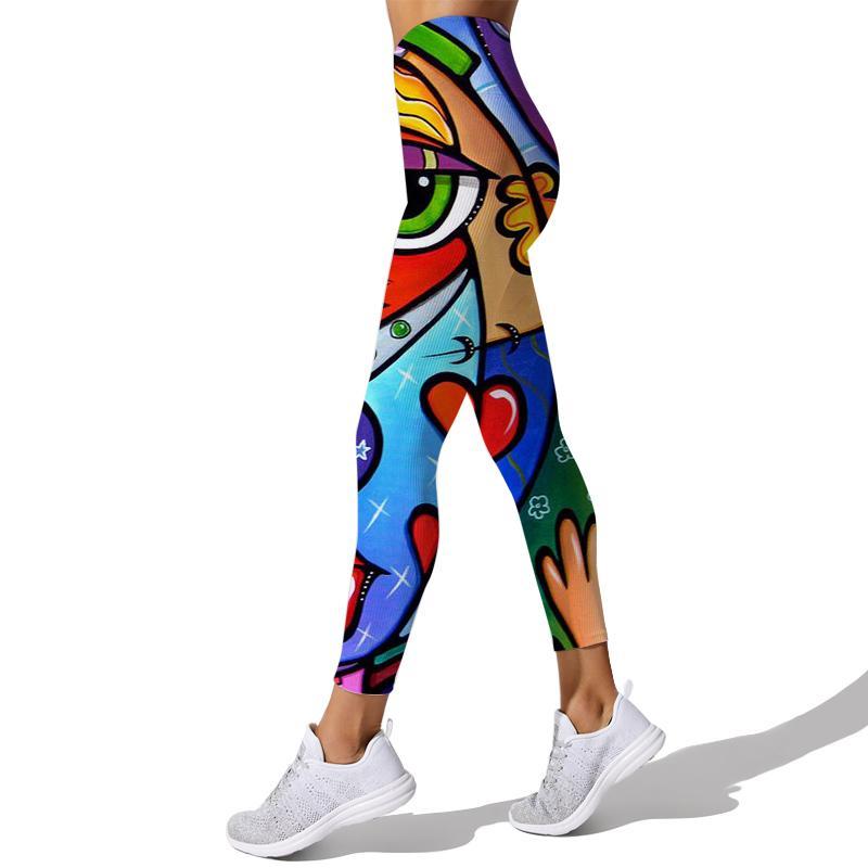 Cloocl أنماط الفن الهندسي المرأة اليوغا السراويل تجريب طماق 3d طباعة الرياضة الجري sweatpants اللياقة البدنية الرياضية رياضية رياضية