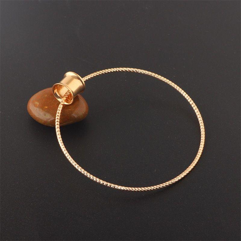 فاسق الفولاذ المقاوم للصدأ آذان المتوسع روز الذهب مطلي ثقب الأنفاق الأذن مجوهرات مجوهرات المقابس ثقب هوب أقراط النساء أزياء 4 1fp n2