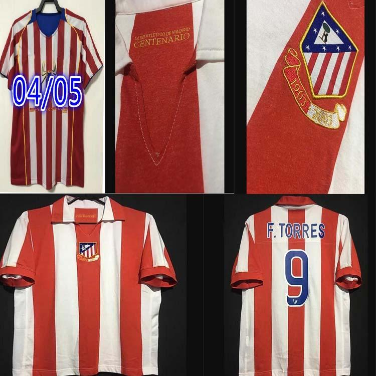 O Homem 2003 2004 2004 2005 Retro Centenary Futebol Jerseys Torres Simeone Kiko Caminero Futbol Vintage Futebol Camisetas Camiseta Classic Maillots Madrid