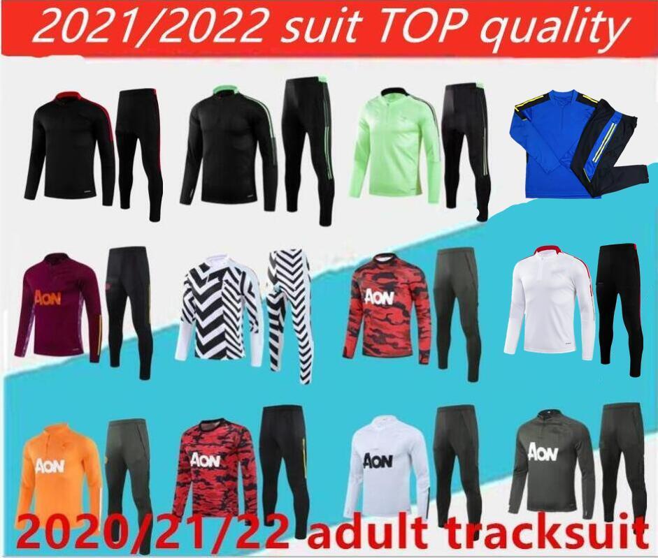 2021/2022 Манчестерной костюм мужской куртку боевые рушфорд футбол спортивная нога ногой jogging pogba United Soccer Touchsuit высочайшее качество.