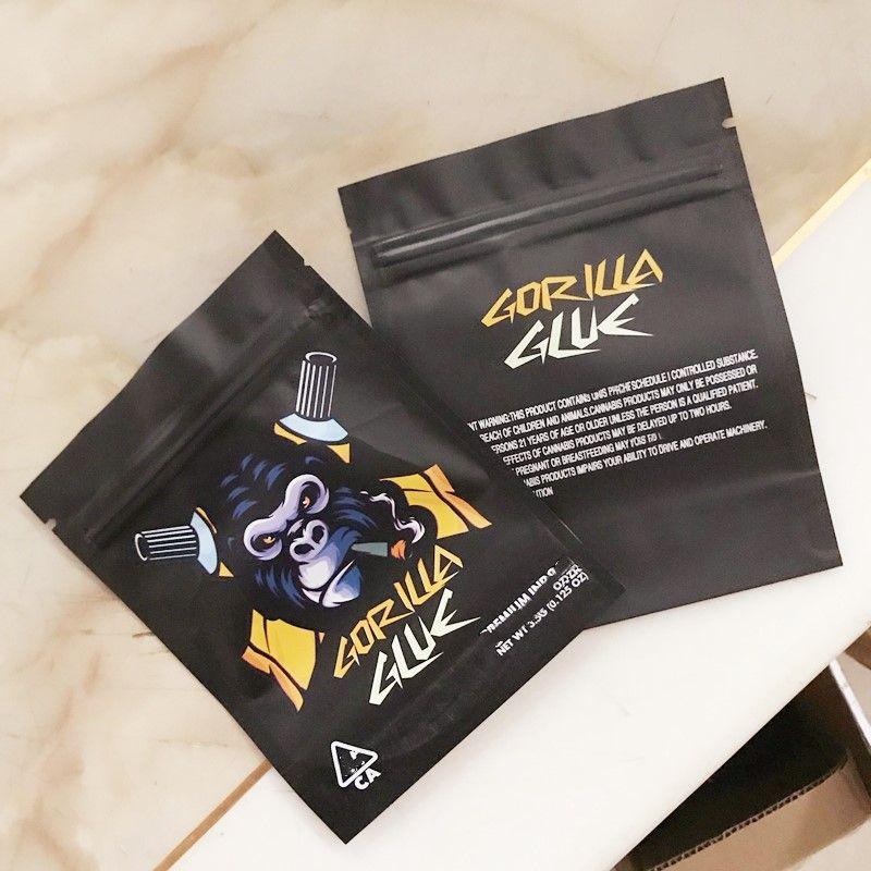 Bianco Runtz OG Gorilla Glue Mylar Bags Jungle Boys Joker Up 3.5G Pacchetto borsa per fiori di erbe secco