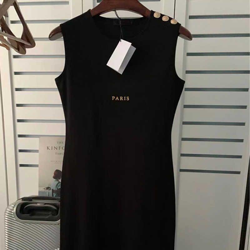 Женские дизайнерские платья высокого качества с коротким рукавом повседневное платье хлопок вышитый тонкий пуловер синяя юбка вязаная