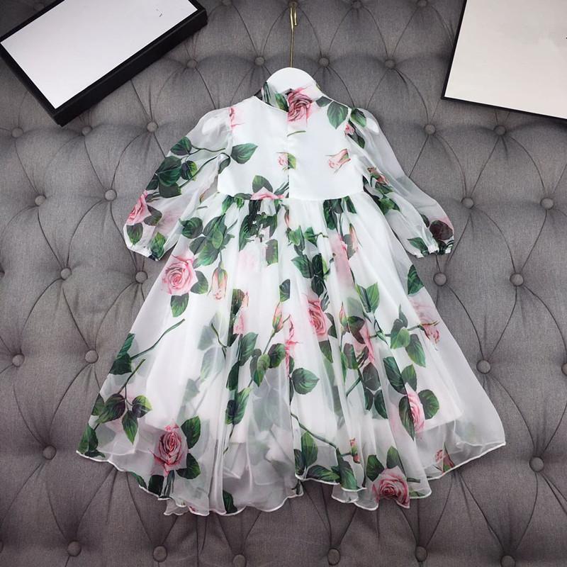 Abiti per ragazze Bambini Bambini Abbigliamento Bambini Estate Primavera Autunno Autunno Girl Lace Princess Party Dress Vestito per bambini 542 Y2
