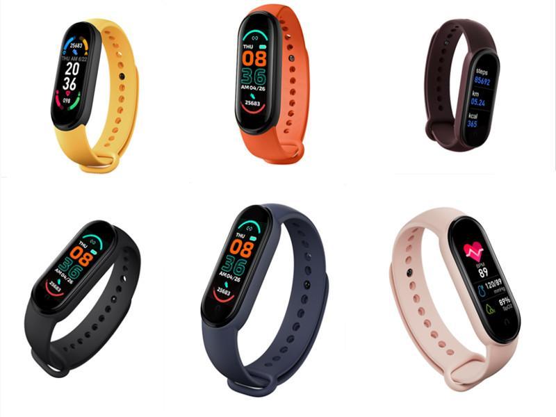 M6 سوار الذكية ووتش الرجال اللياقة البدنية الاسوره المرأة الرياضة المقتفي smartwatch تلعب الموسيقى الفرقة ل adriod ios