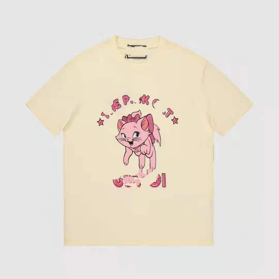21ss Erkekler ve Kadın Tasarımcı T-shirt Moda Mektup Baskı Kısa kollu Gündelik Giyim Üst Yüksek Kalite