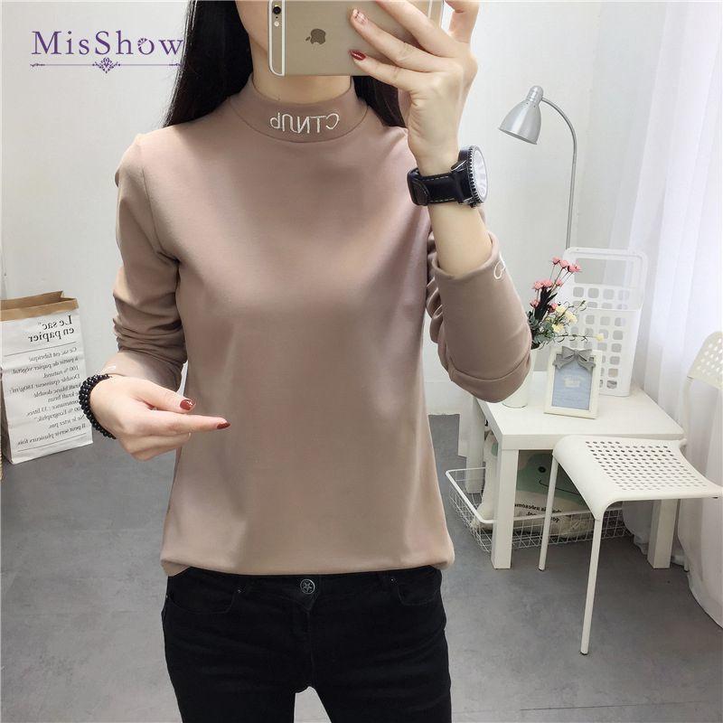 Frauen Blusen Hemden Mode Langarmband, hohe und große Bluse, feste Kleidung, konventionelles großes 2021