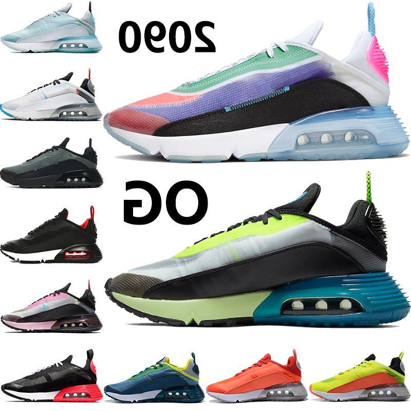 Schuhe 2090 TRUE OG BE Herren Laufen Schwarzer Volt Gelb Orange Bred Weiß Grau Eis Blau KPU Männer Frauen Outdoor Sneakers