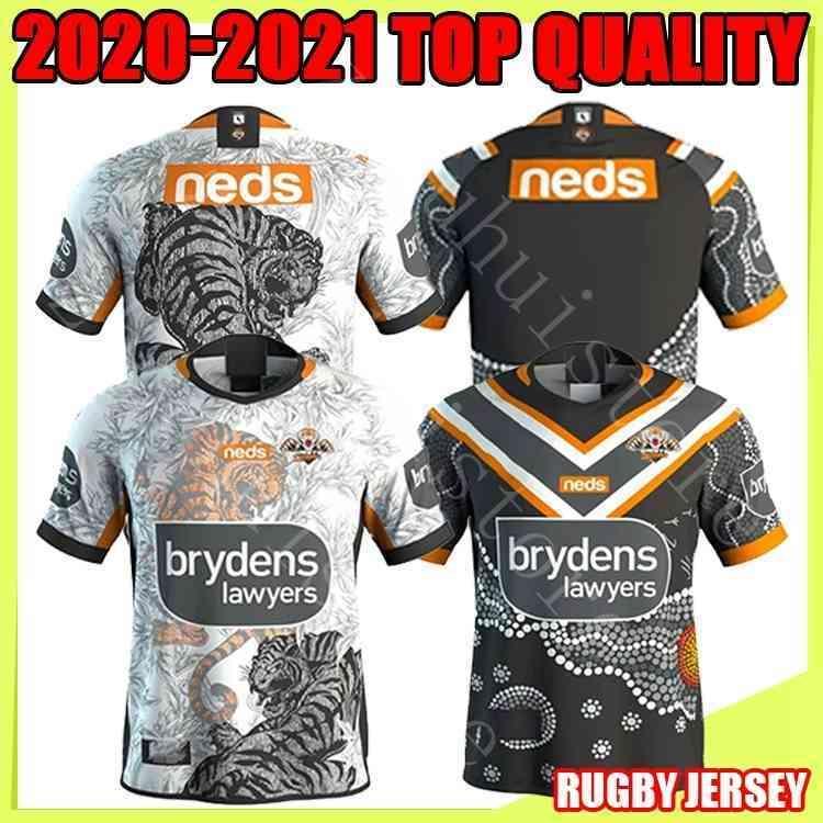 2020 2021 Tigres occidentales Jerseys de rugby Camisetas 20 21 Australia Rugby Wests Tigers Mens West Tiger Tailandia Camisa de Rugby S-5XL