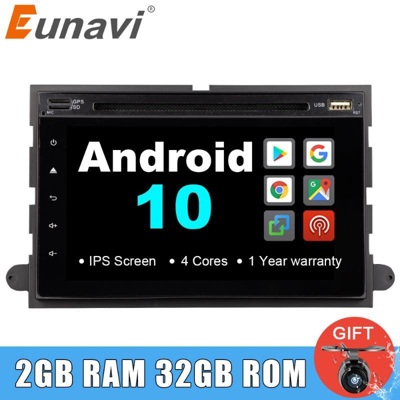 Radio DVD 2 DVD 2 DVD pour 500 / F150 / Explorateur / Edge / Expédition / Mustang / Fusion / Freestyle Android 10 Stéréo GPS Player multimédia