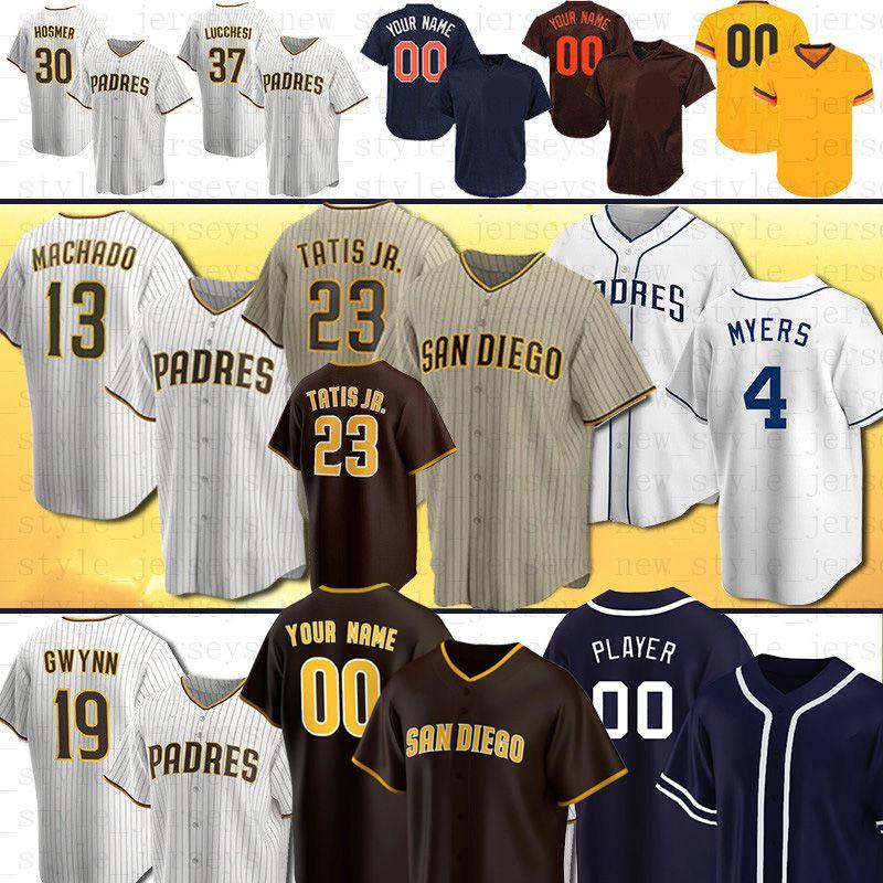 23 Fernando Tatis Jr. San Diego Custom Padres Baseball Jerseys 13 Manny Machado Tatís Tony Gwynn Wil Myers Eric Hosmer Hosmer Mens Femmes Darvish