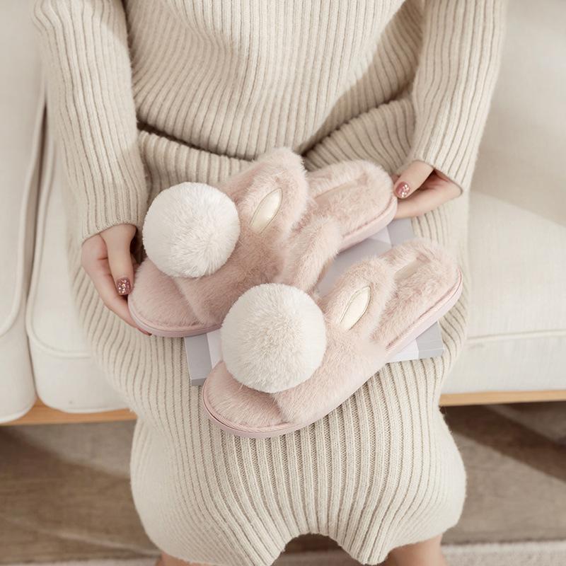 Millffy Carino Casa accogliente Casa Calda Calda palla rotonda Peluche Plush Love Slipper Plus imbottiti comodi pantofole in cotone