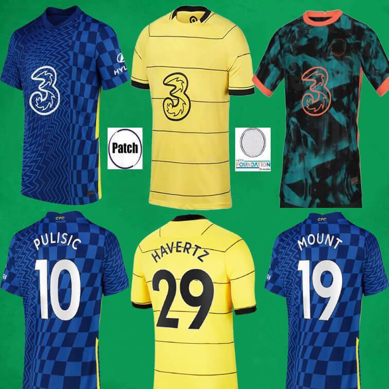 CFC Soccer-Jerseys Lukaku Pulisic-Mount Kante Havertz Werner Chilwell Jorginho Hudson-Odoi 2021 2022 Fußball-Hemd 21 22 Männer + Kinder-Kits Sportuniformen