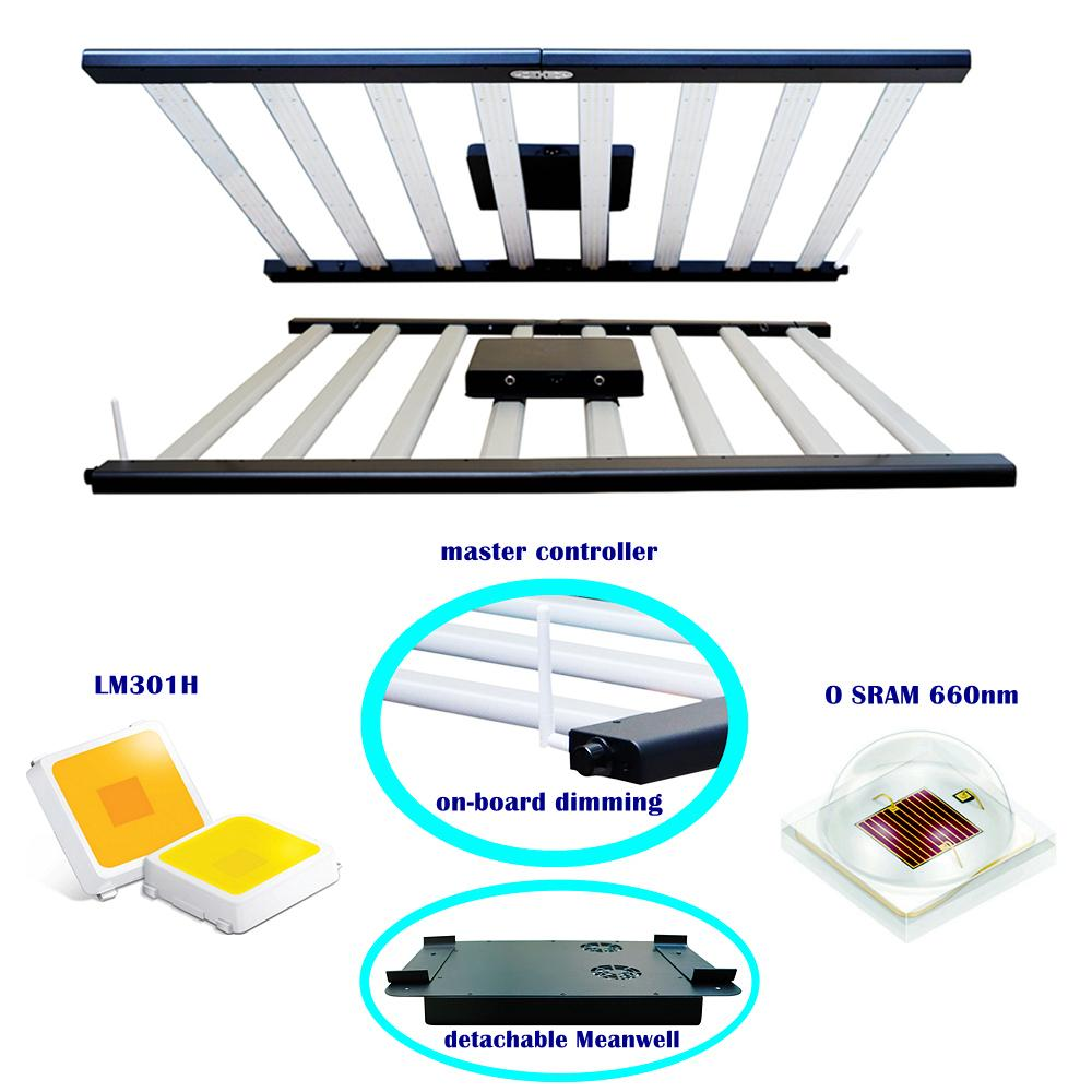 Hydroponic Horticulture Indoor Plant Growth Strip Lamp Bar Full Spectrum LED Grow Light