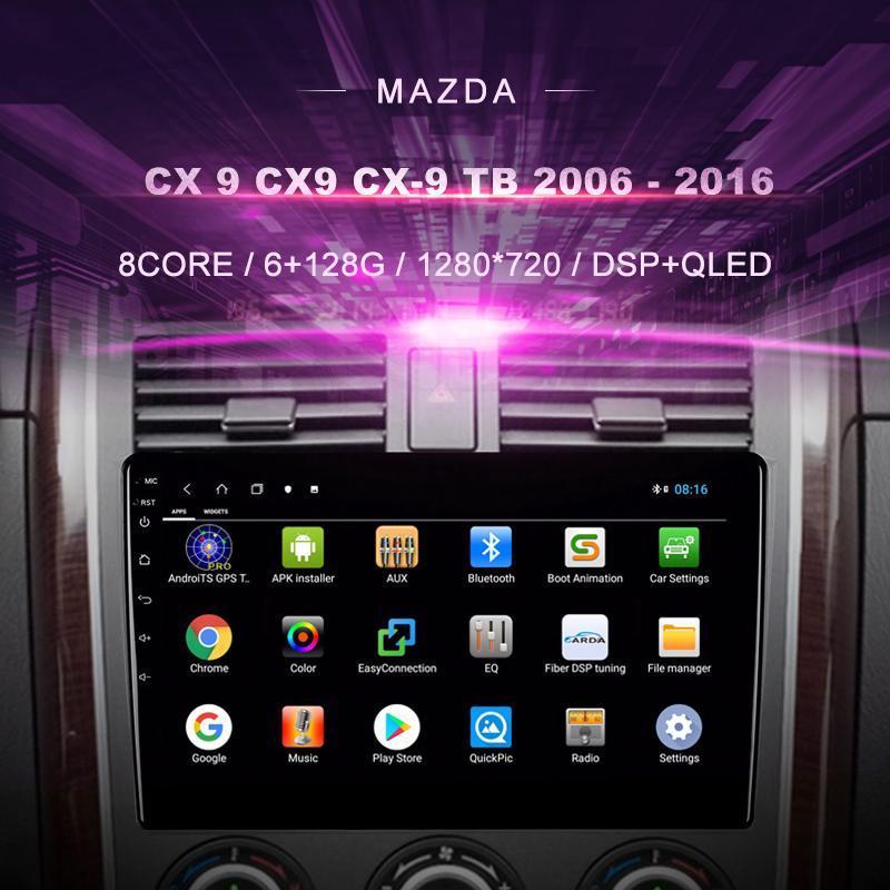 Car DVD para CX-9 (2006-2021) Rádio Multimedia Video Player Navegação GPS Android 10.0 DIN DIN