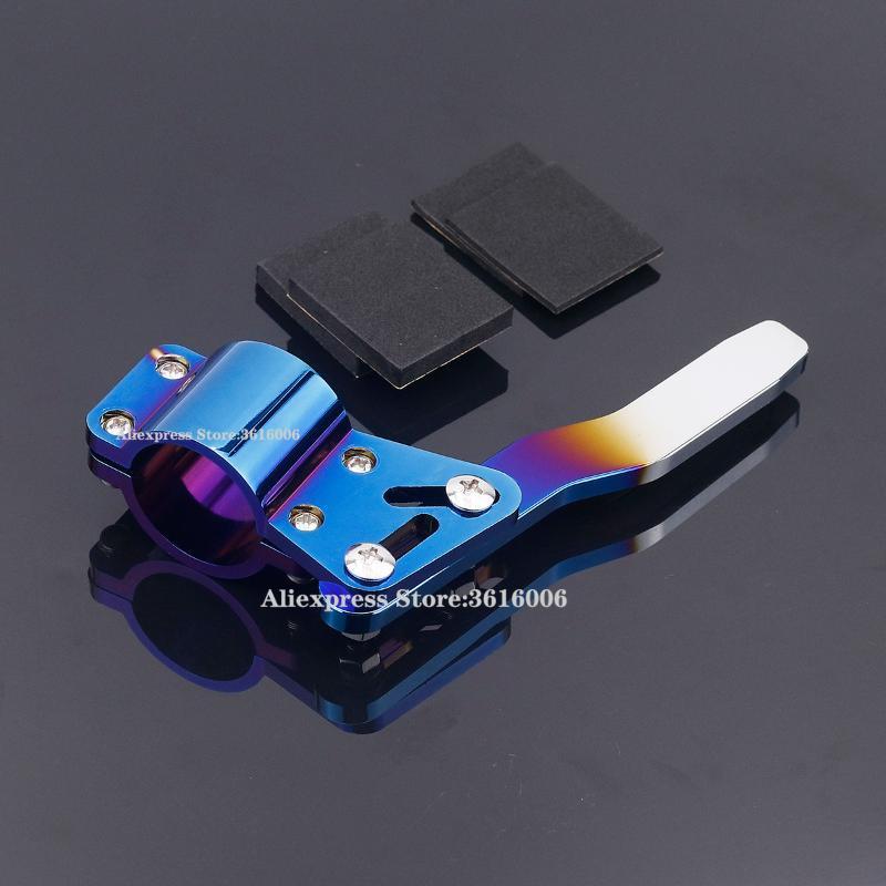 Botão de turno queimado azul tipo alumínio carro curva alavanca de sinal extensão rodante rodas positurar kit