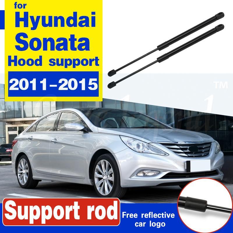 2pcs Couvre-moteur avant Couvre-moteur Capuche Hood Shock Ascenseur Struts Bar Soutien Bar Spring Gaz Spring pour Hyundai Sonata 2011 2012 2013 2014 2015