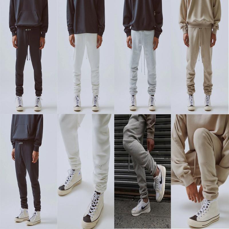 2021 Sonbahar Kış ABD 3 M Yansıtıcı Pantolon Pantolon Rahat Matcha Yeşil Kahve Kahverengi İpli En Kaliteli Marka Sis Sweatpants