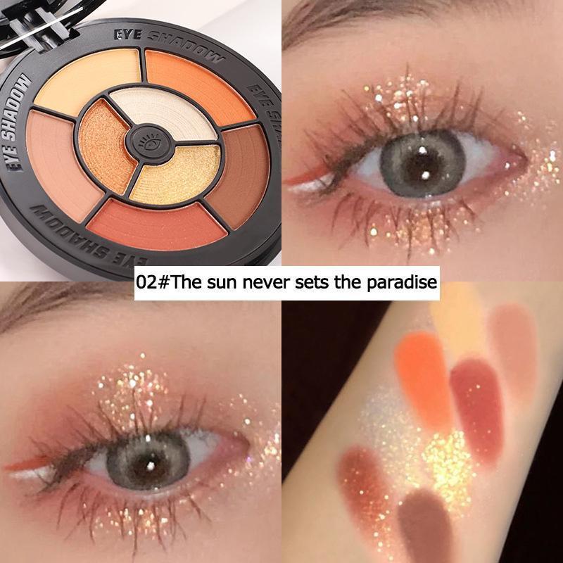 Ombre à la paupière Rétro Vinyl Enregistrer Enregistrer Palette Matte Oogschaduw Maquillage Glitter Naakt Faire ensemble Corée Cosmetica