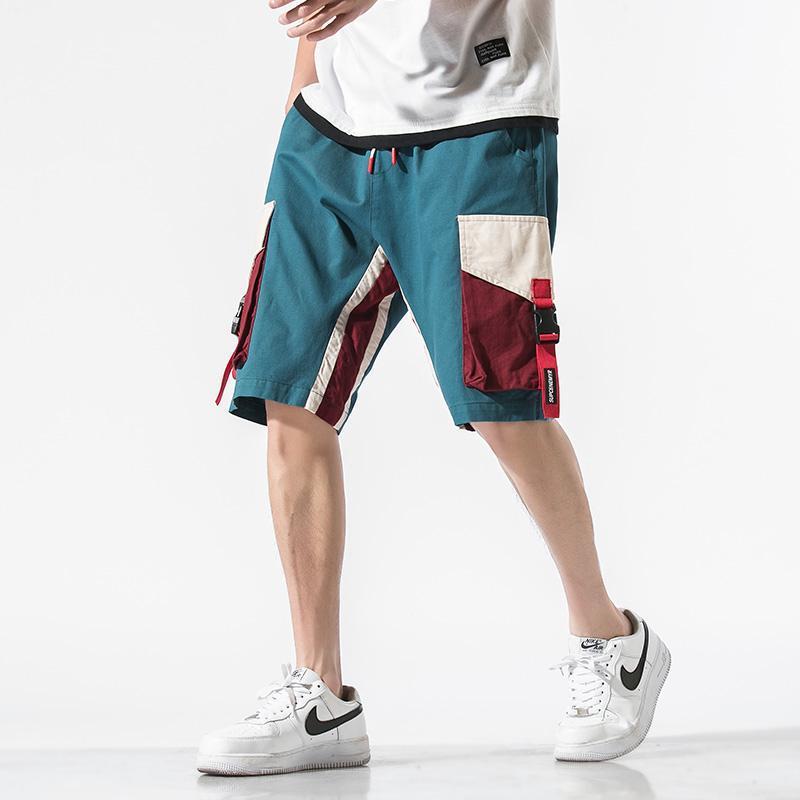 남성 반바지 2021 Streetwear Mens화물 남성 코튼 캐주얼 남성 느슨한 짧은 바지 하라주쿠