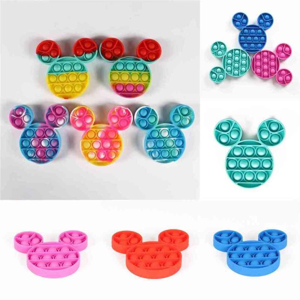 Push Bubble Pop poppers Finger Game Fidget Toys Rainbow Tie Dyed Children's Mental Arithmetic Simple Board Puzzle Sensory Toys H41E4VQ