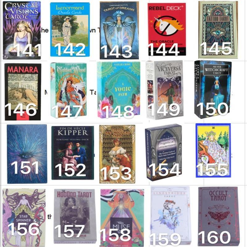 Muchos estilos Tarots juego Witch Rider Smith Waite ShadowsCapes Tarjetas de tablero de cubierta de tarot con colorido Versión en inglés