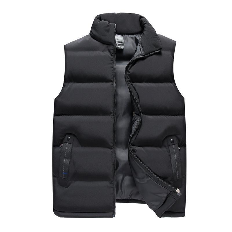 Llegada invierno chaleco casual masculino de alta calidad chaqueta sin mangas para hombre chaleco cálido sólido abrigo de ropa de abrigo más tamaño 7xl chalecos para hombres