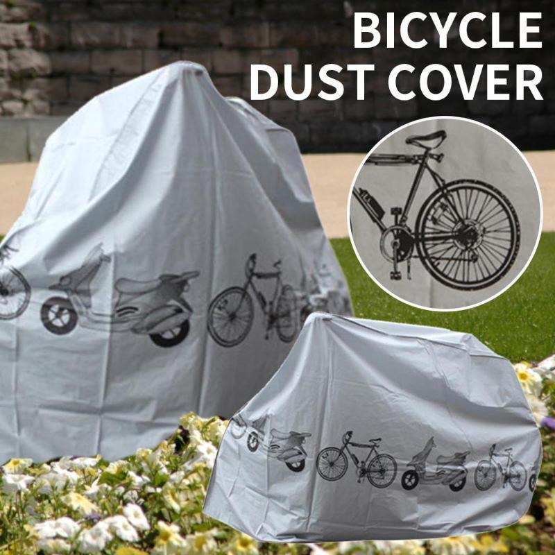Dekorative Objekte Figuren fahrrad regen abdeckung im freien wasserdichte elastische staubfahrrad radfahrer resistent lagerung zubehör