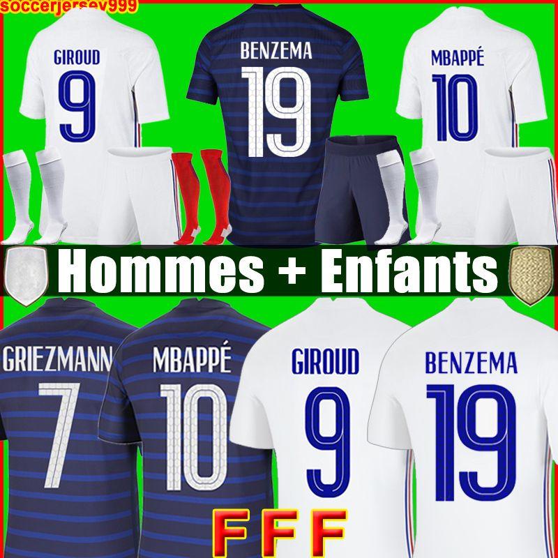 Tops soccer jersey Maillot de foot Maillots football shirt equipe equipment BENZEMA FEKIR PAVARD uniforms de la 2021 men + kids kit sets socks 999
