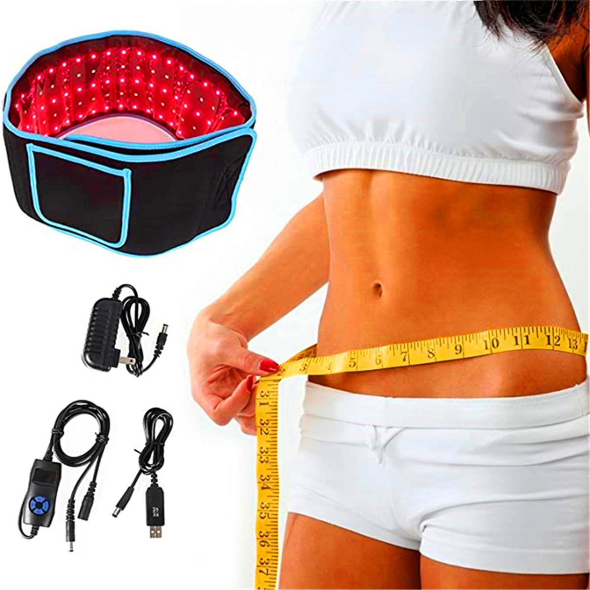 2021 Lighting 660nm Lose weight belt LED Red Lights and 850nm Near Infrared Light Therapy Devices Large Pads Belts Wearable Wrap for Body Pain
