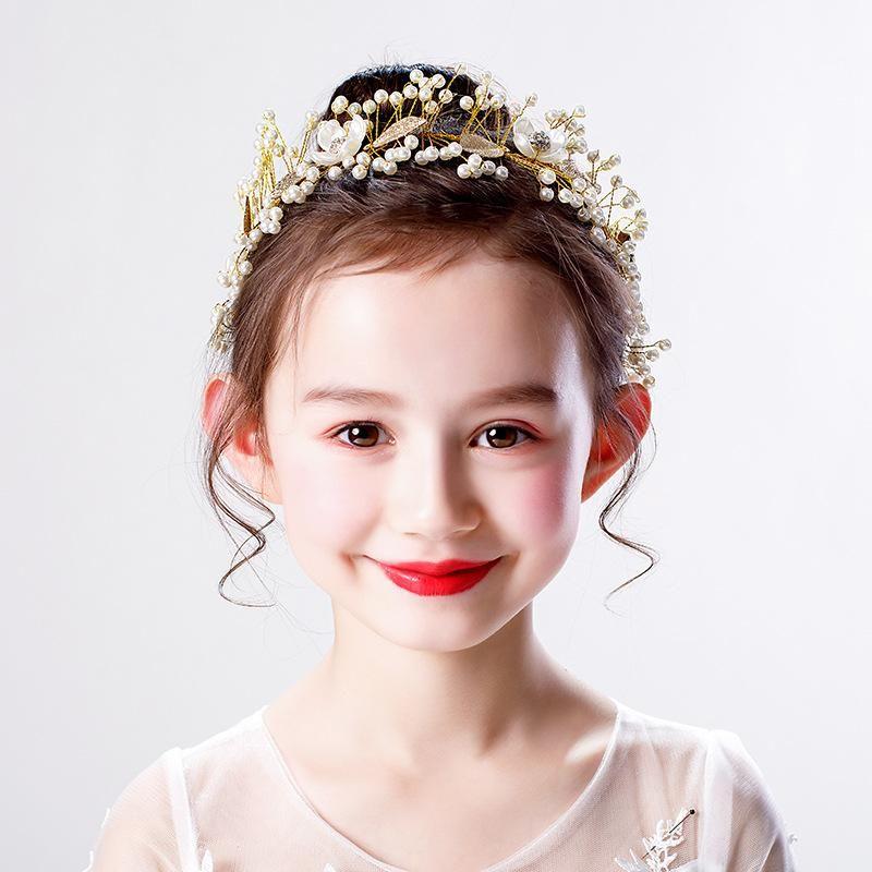 Girls Princess Hair Bands, Children's Golden Headwear, Children, Ancient Syle Hanfu Accessories, Birthday Gifts, Women Clips & Barrettes