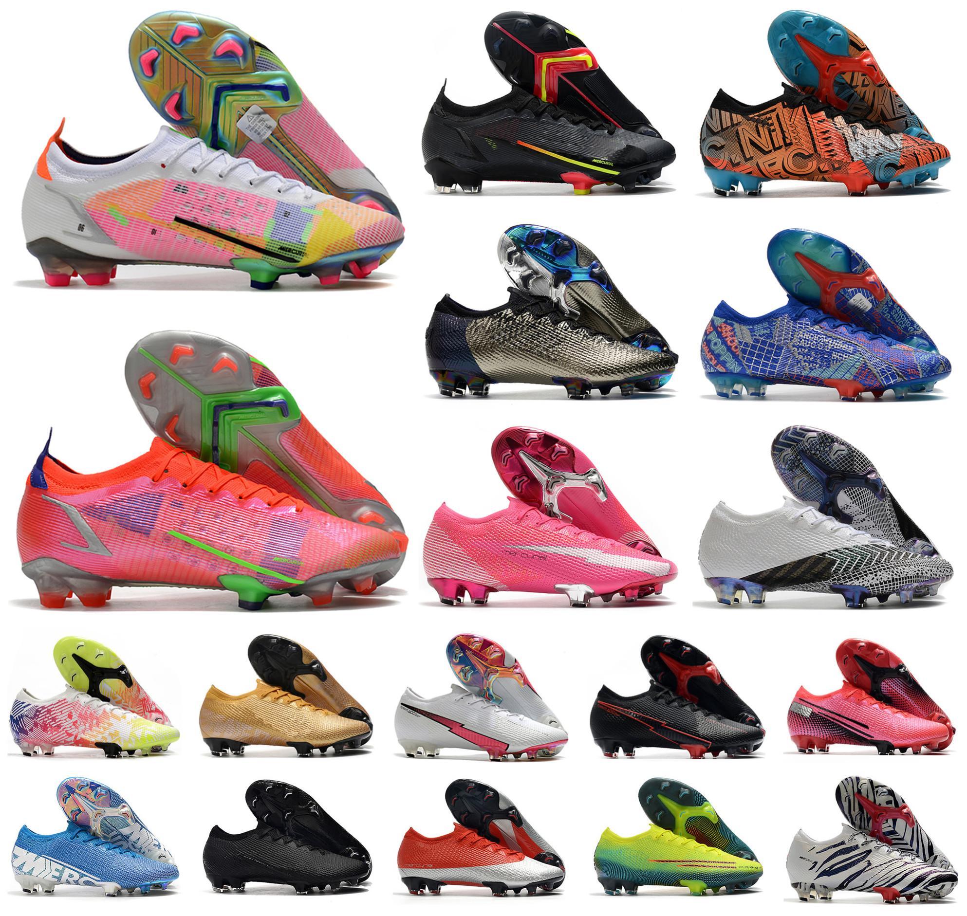2021 남자 VA 포퍼 잠자리 XIV XIII 엘리트 FG 축구 신발 14 13 360 SE CR7 낮은 호나우두 여성 아이 축구 크기 39-45
