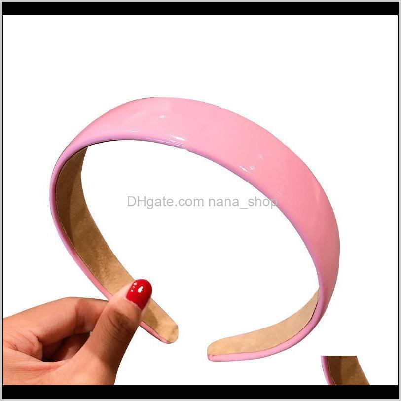Kadınlar Kızlar için PU Deri Bantlar Yıkama Yüz Makyaj Bandana Elastik Bantlar Katı Renk Moda Kadın Saç Aksesuarları I5GIE 2M5XX