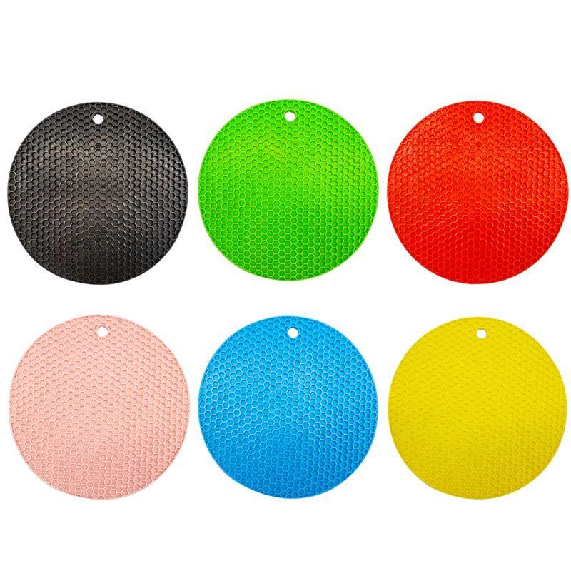 Tappetino in silicone rotondo colorato tappetino tappetino tappetino tappetini di cera anti-scottatura cuscino portatile innovativo cuscino di design per bong vetro bottiglia strumento