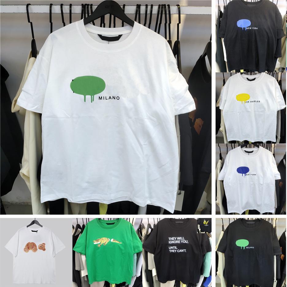 21ss 좋은 qaulity 여름 망 디자이너 티셔츠 티셔츠 100 % 코튼 티셔츠 패션 캐주얼 커플 반팔 티 편안한 검은 색 흰색 디자이너 남자 여자 티셔츠 사이즈 S-XL