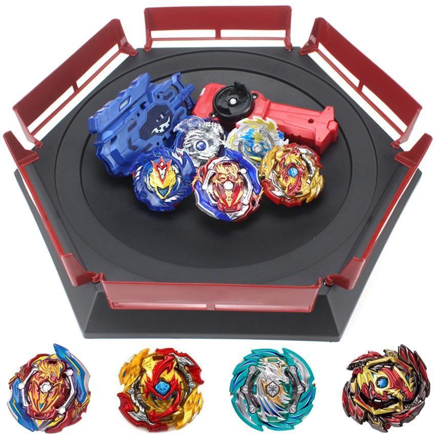 Takara Tomy Combinación Beyblade Burst Set Toys Beyblades Arena Bayblade Metal Fusion 4D con launciador Spinning Top Toys B150 Y200428