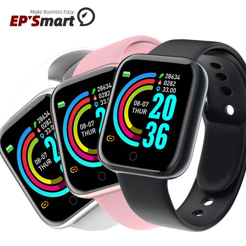 Y68 1.3 Inch Men Women Smart Watch Wristbands Fitness Sport Heart Rate Blood Pressure Bracelet