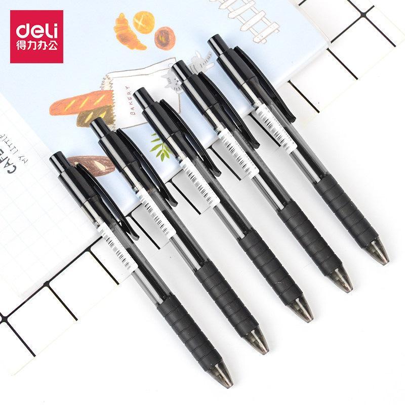 Deli S06 0.5mm Bullet Press Gel Water Signature Pen Office Supplies 12 Pieces / Box