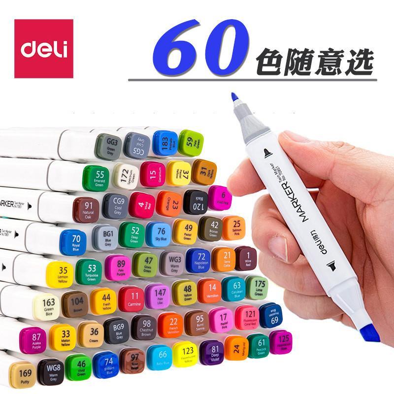 Stifte Deli Marker Single Monochrome Color Matching mit Studenten Malerei Animation Ergänzende Farbe Bulk Special Double Head Oil farbig