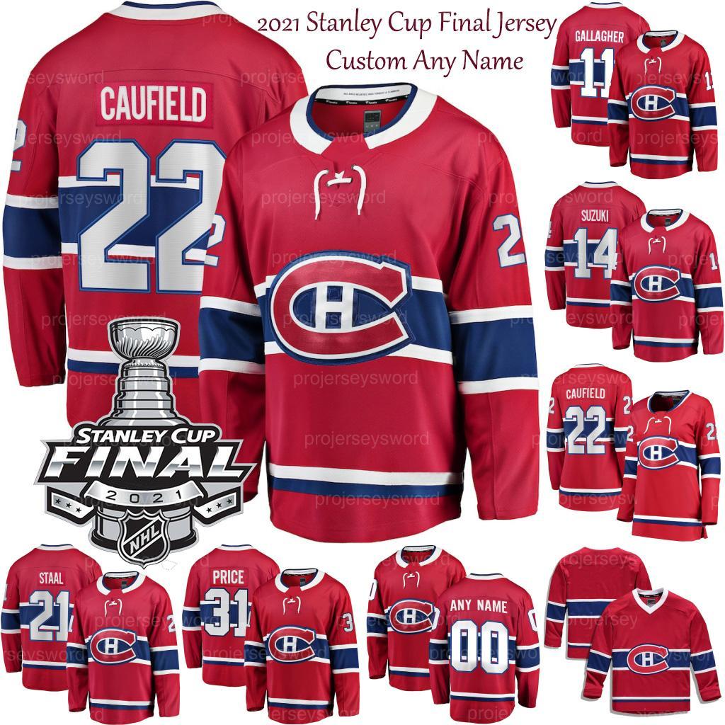 2021 Stanley Cup final Nick Suzuki Montreal Canadiens Jersey Shea Weber Brendan Gallagher Jesperi Kotkaniemi Josh Anderson Cole Cole Caufield Carey Price Tomas Tatal