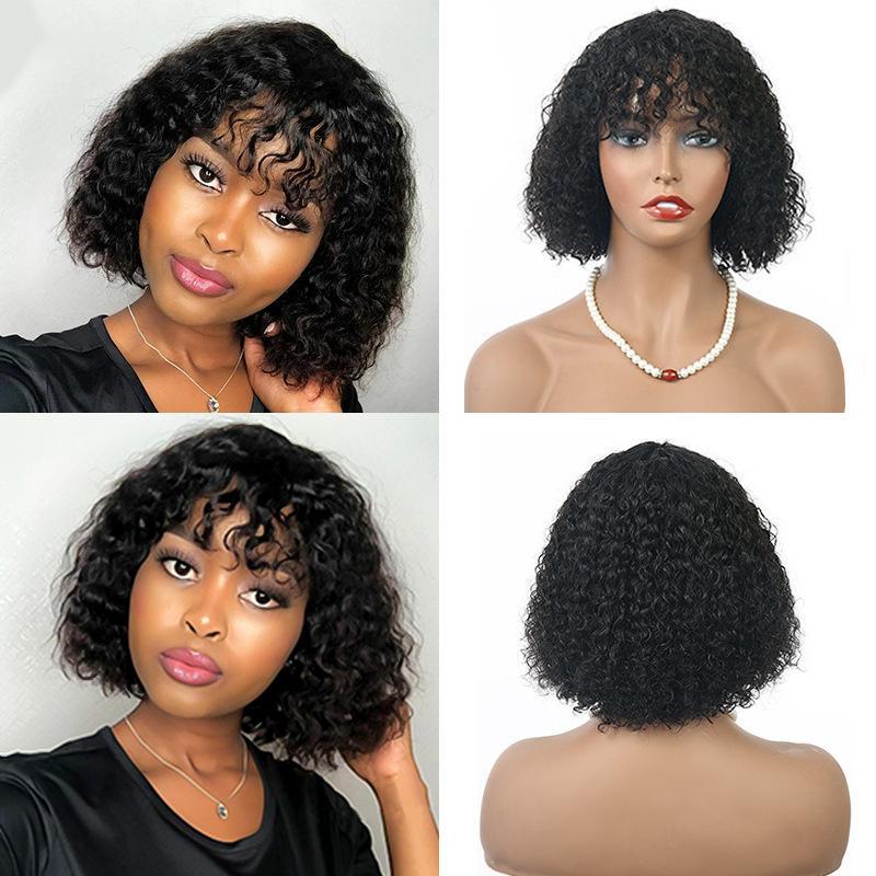 1B شعر الإنسان الباروكات الكابليس مع الانفجارات موجة المياه الباروكة 8 ~ 14 بوصة perruques de cheveux همز rqy4337